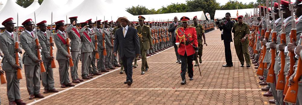 UGANDA PRISONS AT THE SWEARING - IN OF PRESIDENT ELECT.